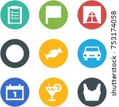 origami corner style icon set   ... | Shutterstock .eps vector #753174058