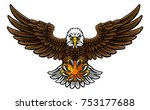 an eagle angry animal sports... | Shutterstock .eps vector #753177688