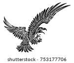 a bald or american eagle... | Shutterstock .eps vector #753177706