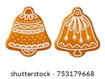 set of traditional christmas... | Shutterstock .eps vector #753179668