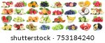 fruits fruit collection fresh... | Shutterstock . vector #753184240
