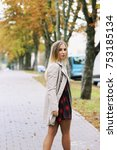 autumn fashion portrait of... | Shutterstock . vector #753185134