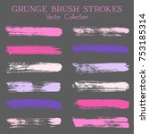 watercolor  ink or paint brush... | Shutterstock .eps vector #753185314