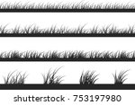 Set Of Grass Silhouettes....