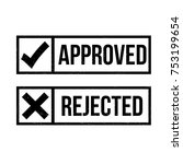 approved rejected symbol vector | Shutterstock .eps vector #753199654