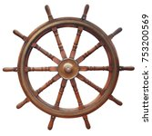 wooden ten spoke ship steering... | Shutterstock . vector #753200569
