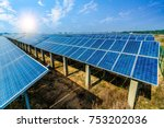 solar energy panels and wind...   Shutterstock . vector #753202036