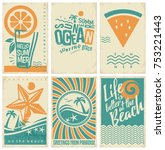 summer vacation poster  flyer... | Shutterstock .eps vector #753221443