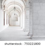 white archway in igreja and...   Shutterstock . vector #753221800
