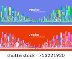 futuristic city skylines | Shutterstock .eps vector #753221920