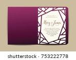 envelope for wedding invitation ... | Shutterstock .eps vector #753222778