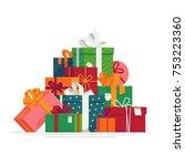 lovely flat vector festive... | Shutterstock .eps vector #753223360