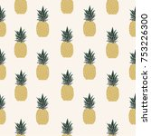 vector illustration. pineapple... | Shutterstock .eps vector #753226300