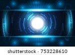 abstract technology background... | Shutterstock .eps vector #753228610