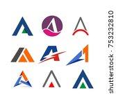 a logo initial letter design... | Shutterstock .eps vector #753232810