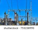 power station for metallurgical ... | Shutterstock . vector #753238990