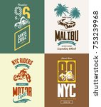 vintage new york bikers club... | Shutterstock .eps vector #753239968