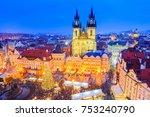 prague  czech repubilc.... | Shutterstock . vector #753240790