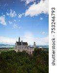 neuschwanstein castle is a 19th ... | Shutterstock . vector #753246793