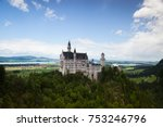 neuschwanstein castle is a 19th ... | Shutterstock . vector #753246796