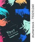 grunge design elements | Shutterstock .eps vector #753251260