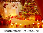 christmas tree  presents gifts...   Shutterstock . vector #753256870