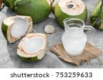 Coconut Juice On Cement...