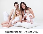 happy family with children...   Shutterstock . vector #75325996