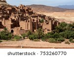 the fortified moroccan town of... | Shutterstock . vector #753260770
