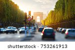 traffic on champs elysee and... | Shutterstock . vector #753261913