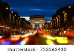 evening rush hour on champs... | Shutterstock . vector #753263410