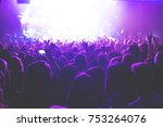 the audience watching the... | Shutterstock . vector #753264076