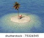 Woman Sunbathing In Lounge On...