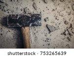 big steel hammer technical... | Shutterstock . vector #753265639