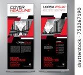 business roll up. standee... | Shutterstock .eps vector #753267190