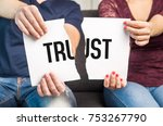 no trust. cheating  infidelity  ... | Shutterstock . vector #753267790