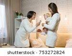 grandmother mum and...   Shutterstock . vector #753272824