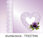 Lace Heart  Antique Pastel...