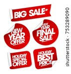 big sale new year offers set... | Shutterstock .eps vector #753289090
