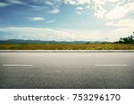 road side paddy field view... | Shutterstock . vector #753296170