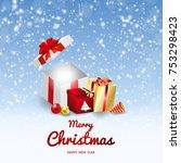 merry christmas vector banner...   Shutterstock .eps vector #753298423