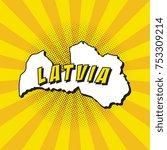 pop art map of latvia   Shutterstock .eps vector #753309214