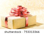 gift box for christmas and... | Shutterstock . vector #753313366