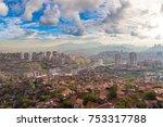 panoramic aerial view of ankara ... | Shutterstock . vector #753317788