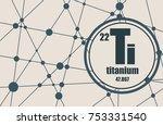 titanium chemical element. sign ... | Shutterstock . vector #753331540