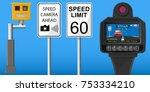handheld speed radar lidar... | Shutterstock .eps vector #753334210