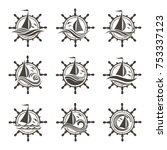 icons collection of sailing... | Shutterstock .eps vector #753337123
