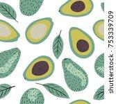 modern decorative seamless... | Shutterstock .eps vector #753339709