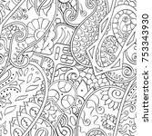 tracery seamless pattern.... | Shutterstock .eps vector #753343930