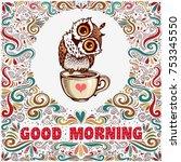 good morning. inspirational... | Shutterstock .eps vector #753345550